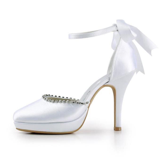 Jia Jia Wedding 3703B chaussures de mariée mariage Escarpins pour femme
