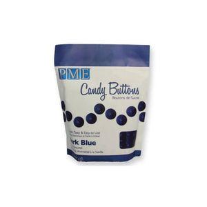 CONFISERIE DE CHOCOLAT PME - Candy Buttons de chocolat blanc bleu foncé