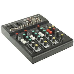 TABLE DE MIXAGE Table de mixage professionnelle à 4 canaux et proc