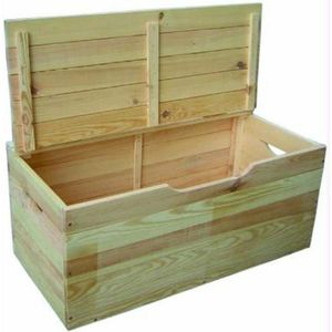 COFFRE À JOUETS bois pine coffre de secs cm. 100x40x50h