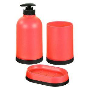 SET ACCESSOIRES Set de salle de bain 3 pièces Rouge