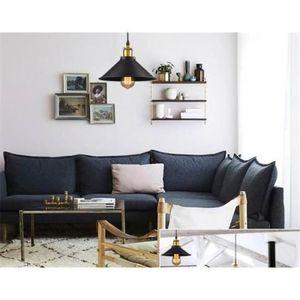 retro vintage suspension metal lustre industriel. Black Bedroom Furniture Sets. Home Design Ideas