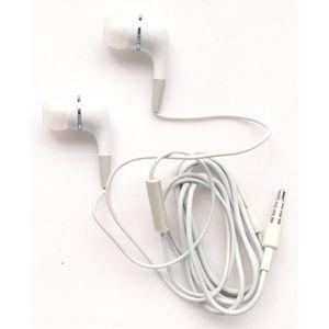 CASQUE - ÉCOUTEURS Emartbuy® Blanc Écouteurs Intra-Auriculaires avec