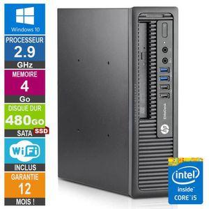 UNITÉ CENTRALE  PC HP 800 G1 USDT Core i5-4570S 2.90GHz 4Go-480Go