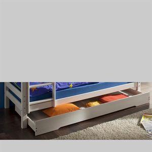 tiroir de rangement sous lit max pin lasur blanc achat. Black Bedroom Furniture Sets. Home Design Ideas