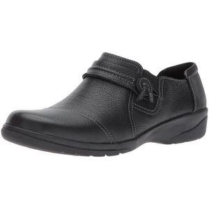 17d035efd5 MOCASSIN Clarks Noire des femmes Slip en cuir sur Chaussure ...