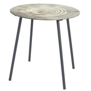 TABLE D'APPOINT Table d'appoint en tube d'acier laqué noir - Dim :