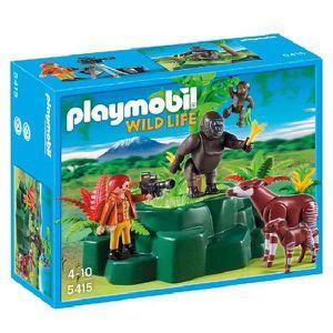 UNIVERS MINIATURE PLAYMOBIL 5415 Gorilles et Okapis avec Végétation