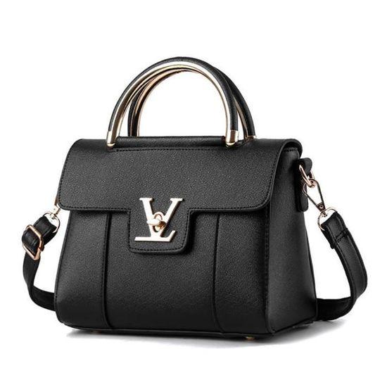 Classique Femme Cuir Main A Mode b059 Pu New Sac Noir Bandouliere xfp EqO0Ux