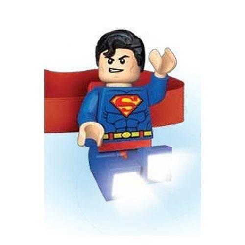 LEGO Super Héros Lampe Frontale Superman - Clip sur le dos - Bras extensibles- Pattes de pêche légères - 7,5 X 4,5 X 2,56 cm