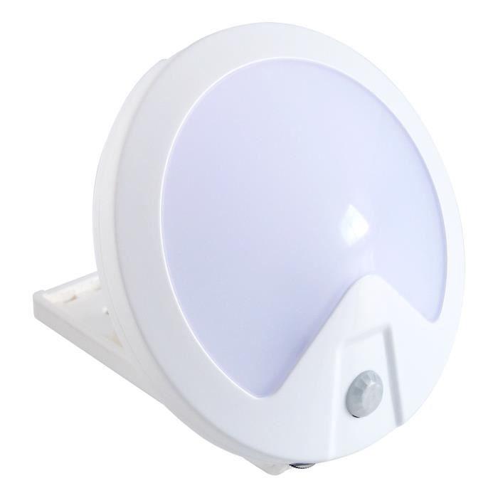 Veilleuse automatique à 3 LED HESTEC - Multi supports - 11,2 x 3,6 x 11,2 cm
