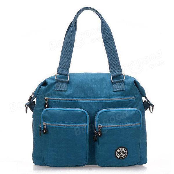 SBBKO919Femmes sacs à main en nylon occasionnels sacs à bandoulière imperméable poche multiples crossbody extérieure sacs Sea Blue
