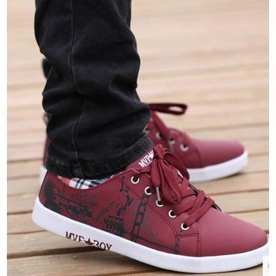 Chaussures de sport pour hommes, chaussures de sport chaussures respirantes Angleterre, rouge 43
