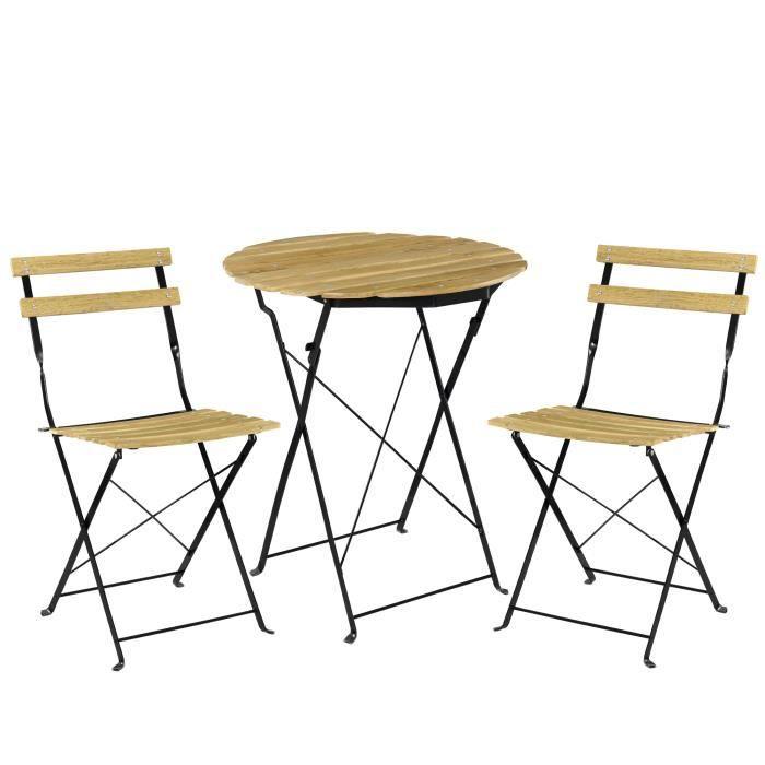 casa.pro]® Kit de bistro Set (Table + 2 Chaise) Meuble du jardin ...