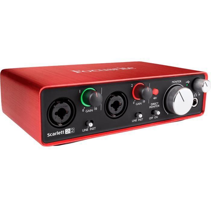 INTERFACE AUDIO - MIDI Focusrite Scarlett 2i2 II interface audio-pro USB