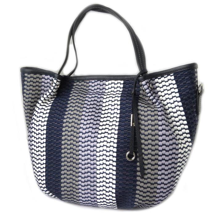 Sac cuir Gianni Conti bleu camaieu - 36x35x14 cm [P1341]