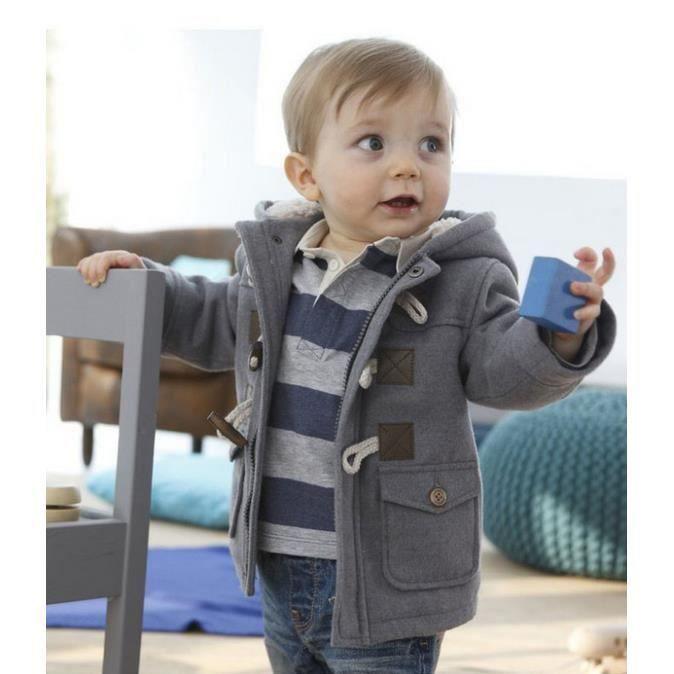 manteau veste duffle coat gar on 2 au 7 ans gris gris achat vente manteau caban cdiscount. Black Bedroom Furniture Sets. Home Design Ideas
