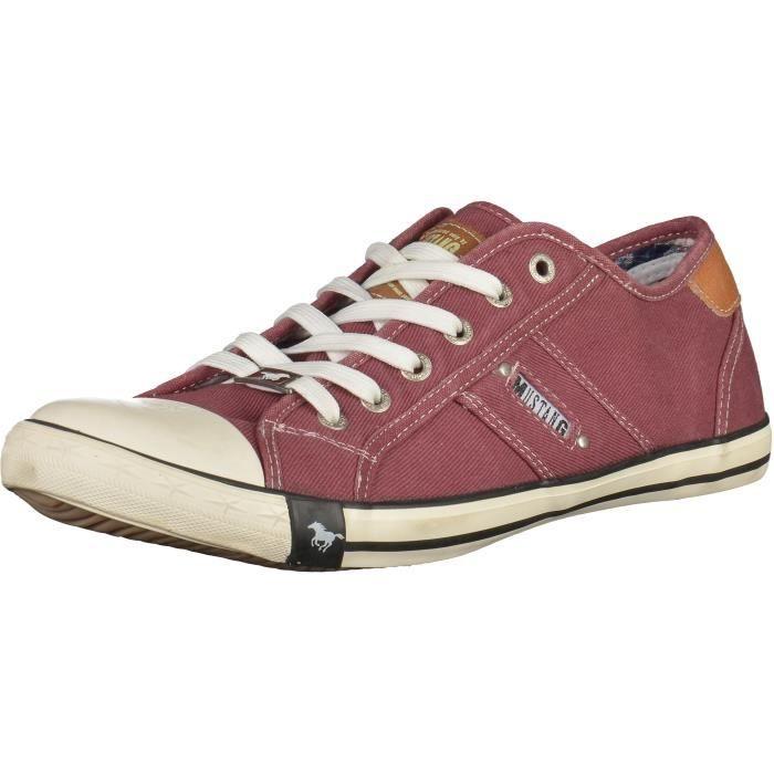 low priced 819f6 7d37f Mustang Sneaker Bordeaux Bordeaux - Achat / Vente basket ...
