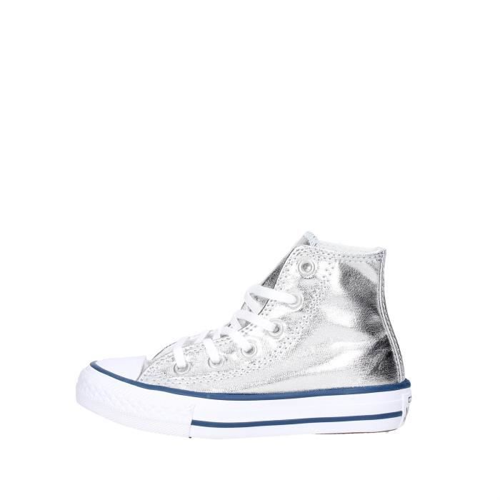 b331f883714f7 BASKET Converse Sneakers Fille Argent