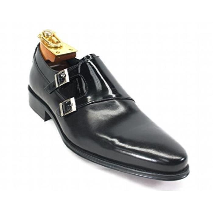 Véritable Calfskin poli design en cuir italien Italie Double Monk Bracelet Slip-on Chaussures oisif Ks099- VU88O nYToepkL