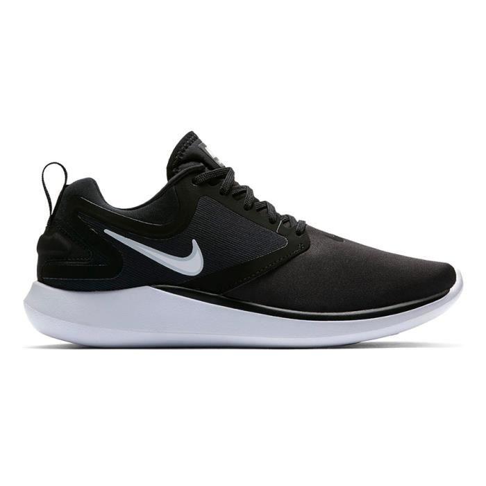 sports shoes 3d7e6 1d23f Chaussures Nike LunarSolo noir blanc femme