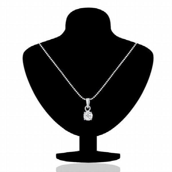 Solitaire rhodié classique Femme de Ensemble pendentif orné de SWAROVSKI Zircon Pour de plus Nl1105027r R2B00