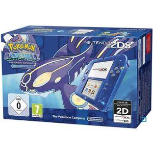 CONSOLE 2DS 2DS Transparente Bleue + Pokemon Saphir Alpha