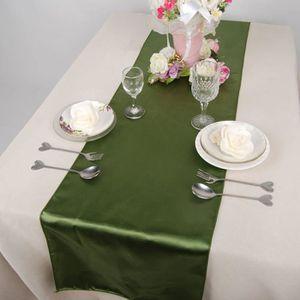 CHEMIN DE TABLE 10pcs Chemin de table Satin Nappe Accueil Décorati