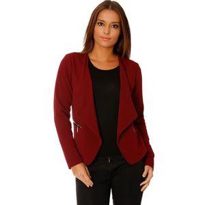 veste bordeaux femme achat vente pas cher. Black Bedroom Furniture Sets. Home Design Ideas