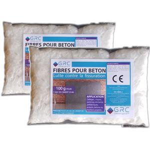 BÉTONNIÈRE GRC - Fibres pour béton - 2x100g