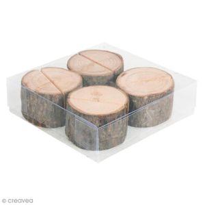 MARQUE-PLACE  Rondelles en bois porte nom - Diamètre 3 et 5 cm-