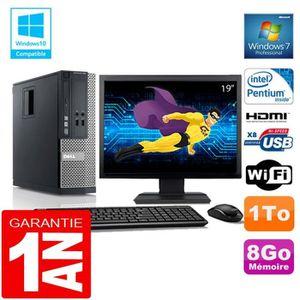 UNITÉ CENTRALE + ÉCRAN PC DELL 390 SFF Intel G630 Ram 8Go Disque 1 To Wif