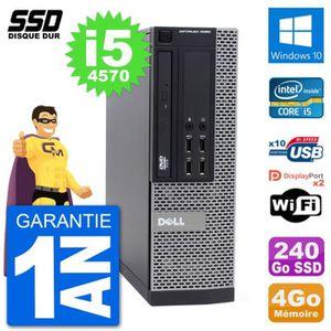 ORDI BUREAU RECONDITIONNÉ PC Dell OptiPlex 9020 SFF Intel Core i5-4570 RAM 4