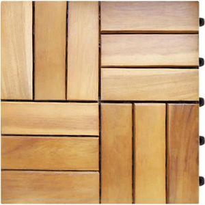DALLAGE 33x Dalles de terrasse en bois pour 3m² en bois d'