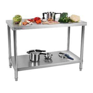 PIÈCE DE PETITE CUISSON Table de travail en inox - 140x70cm - Table en ino