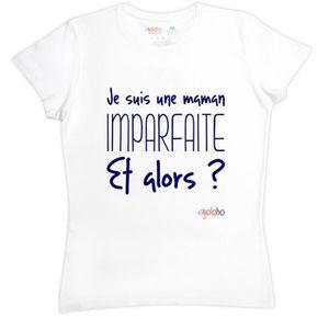 T-SHIRT T-shirt femme en coton Je suis une maman imparfait