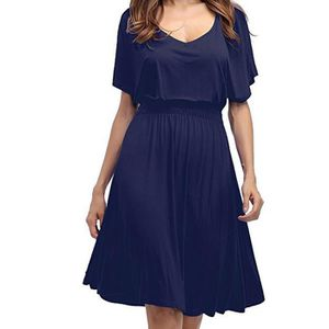 4a134b179a8 ROBE Femmes Robe sexy encolure en V grande taille Coule
