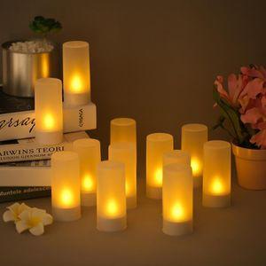 BOUGIE DÉCORATIVE 12pcs   set LED Bougie Rechargeable Lumière Simulé. ‹› df9efb7a3b0d
