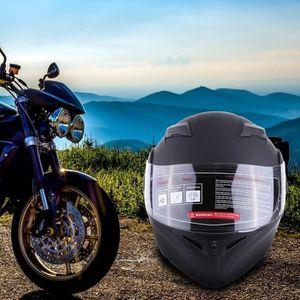 CASQUE MOTO SCOOTER Casque de moto Scooter Casque anti-buée à double l