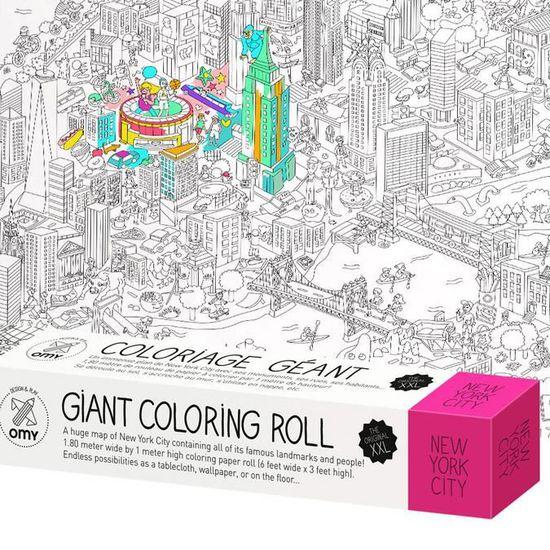 Rouleau De Coloriage Geant Xxl Theme New York 100 X 180 Cm