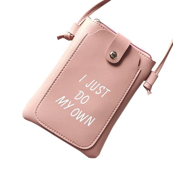 En be18646 Cuir Mignon Sacs Femmes Épaule Sac Lettre Sacoche Petit Mini Pk Messenger Fille Embrayage De Y0wqqFZ