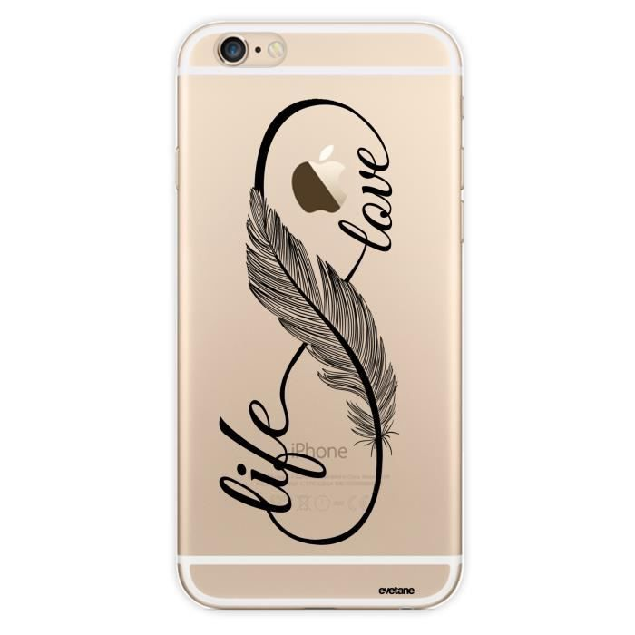 23b145544c2a6 Coque crystal love life pour Apple iPhone 6 6S - Achat coque ...