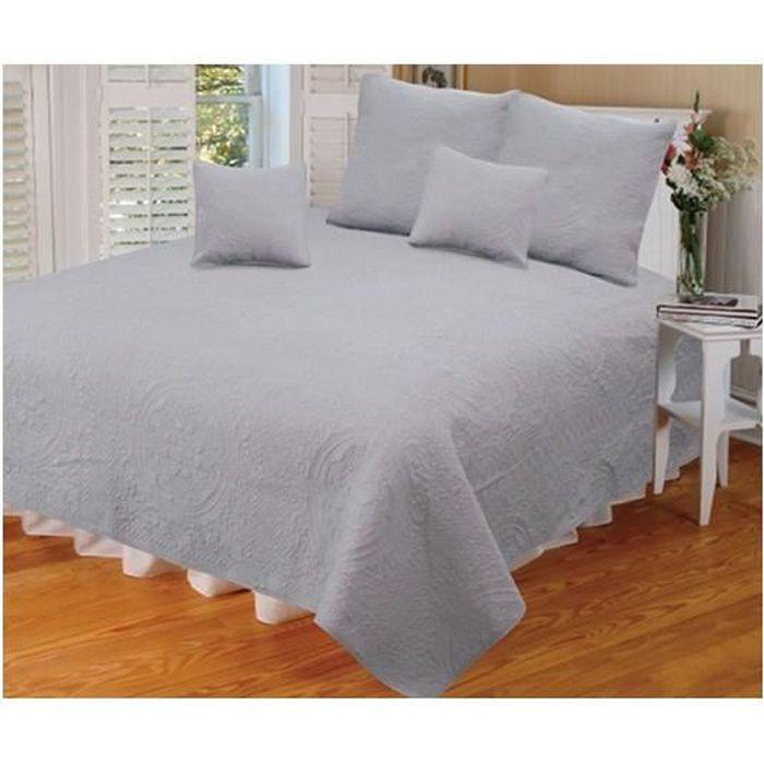couvre lit boutis 260x260 achat vente couvre lit boutis 260x260 pas cher soldes d s le 10. Black Bedroom Furniture Sets. Home Design Ideas