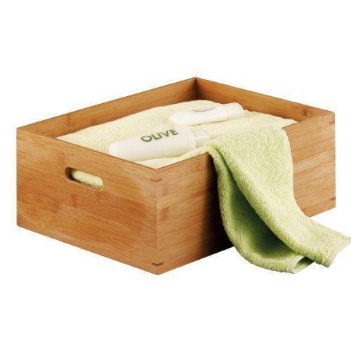 Zeller 13341 Caisse de rangement en bambou taille M, 40 x 30 x 14 cm…