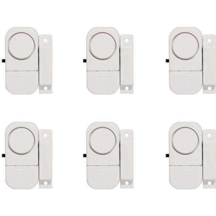 DÉTECTEUR D'OUVERTURE CHACON Lot de 6 mini-alarmes d'ouverture et averti