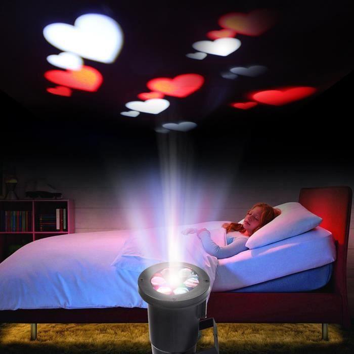 Excelvan projecteur d 39 ambiance romantique led rouge et for Projecteur led noel blanc