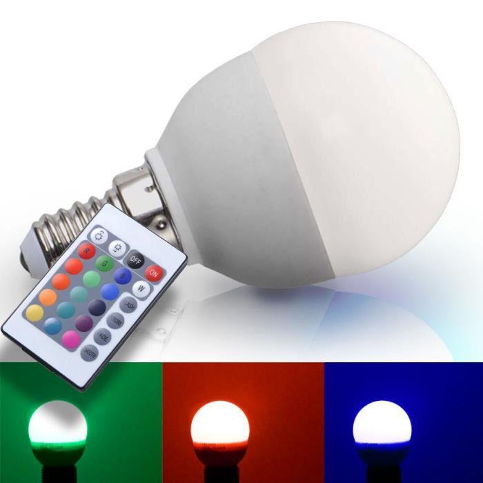 AMPOULE - LED Ampoule RVB LED E14 agent lumineux lampe DEL 3,5 w