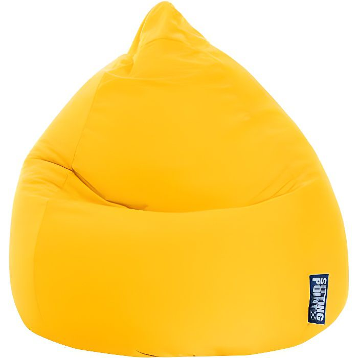 pouf poire easy xl jaune by sittingpoint achat vente pouf poire cdiscount. Black Bedroom Furniture Sets. Home Design Ideas