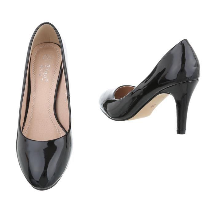 femme escarpin chaussure High Heels noir MwnOLA02