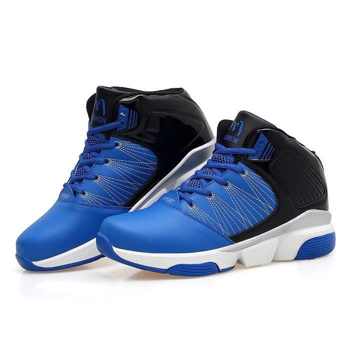 Bottes pour Hommenoir - bleu 6.5 Chaud antidérapante plat de basket-ball_15889